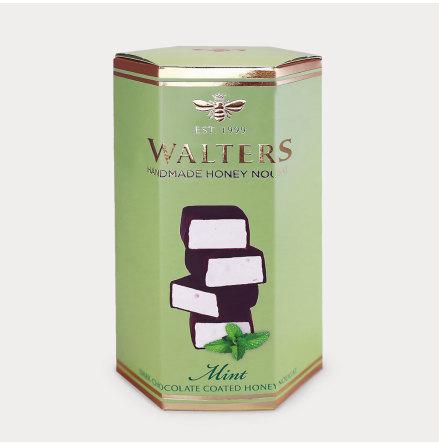 Chokladöverdragna nougatbitar med Mint
