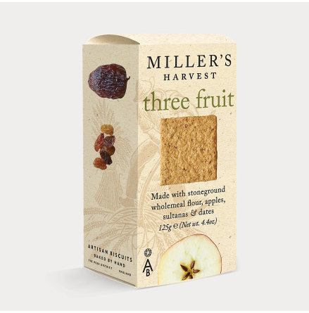 Kex, Millers Harvest Three Fruit