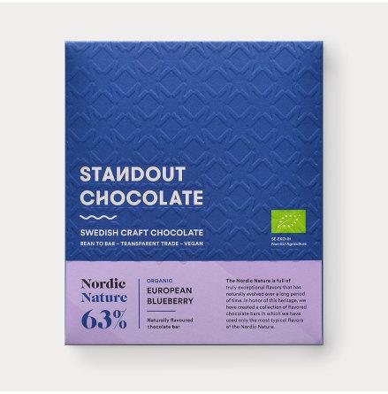Chokladkaka Nordic Nature Blåbär 63%