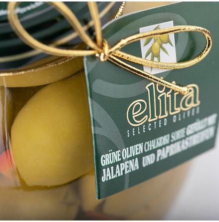 Gröna oliver med Paprika & Jalapeno