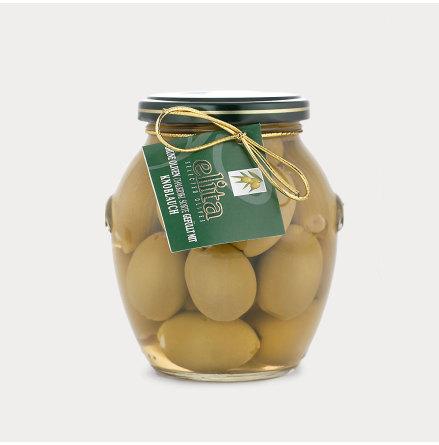 Gröna oliver med Vitlök