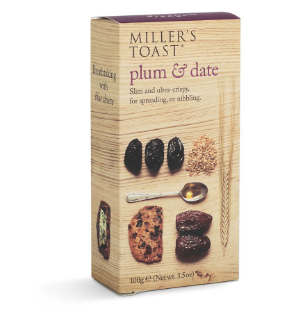 Kex Millers Toast Plommon & Dadel