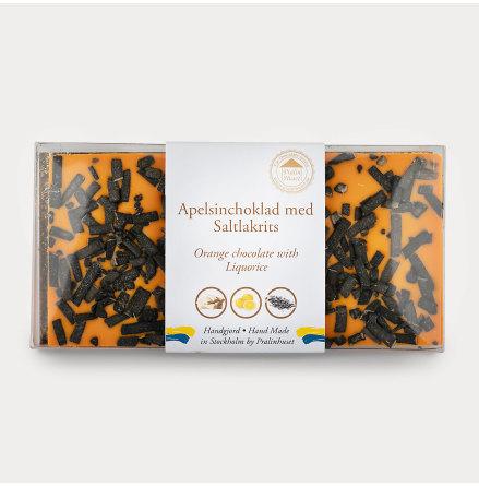 Vit choklad - Apelsinchoklad med Saltlakrits