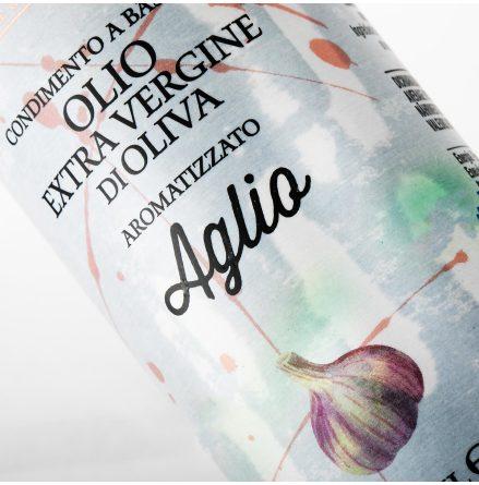 Olivolja Extra Virgin di oliva Aglio Vitlök Italiensk