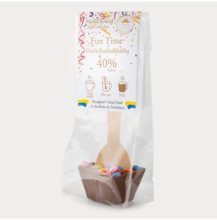 Drickchokladklubba - Mjölkchoklad - Fun time