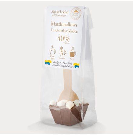 Drickchokladklubba - Mjölkchoklad & Marshmallows