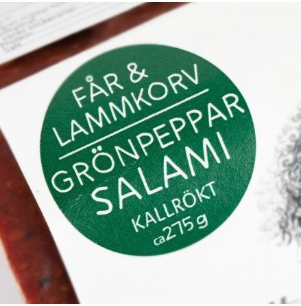Lamm Salami med Grönpeppar