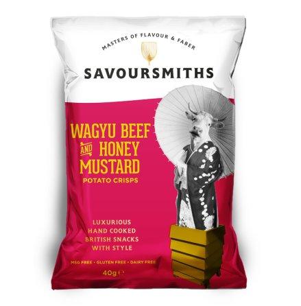 Krispiga Chips Wagyu, Honey & Mustard