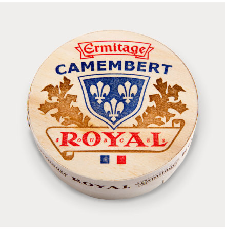 Camembert Royal i träask