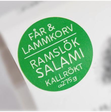 Lamm Salami med Ramslök  (Svinn-Bra, kort datum)